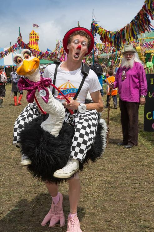 Oswald the Ostrich at Glastonbury