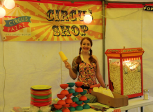 our little circus shop & PTA organise tickets & refreshments
