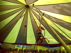 Tilly performs Aerial hoop