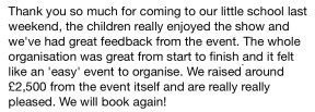 Lots more great feedback!
