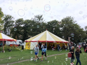 bubbles all around the bigtop